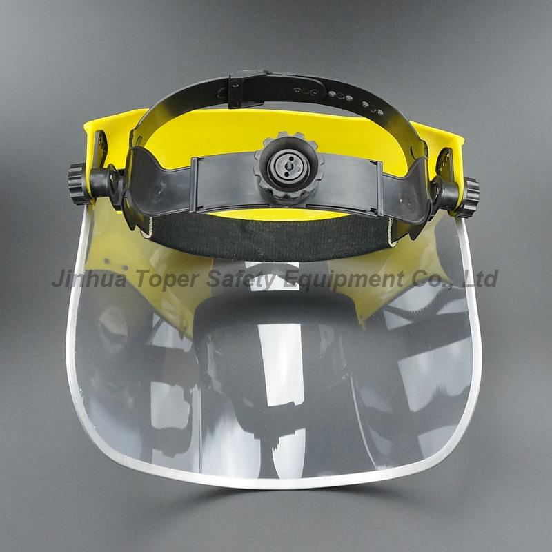Top Sell Face Shield Ce En166 Certificate PVC Visor with Ratchet Suspension (FS4014)