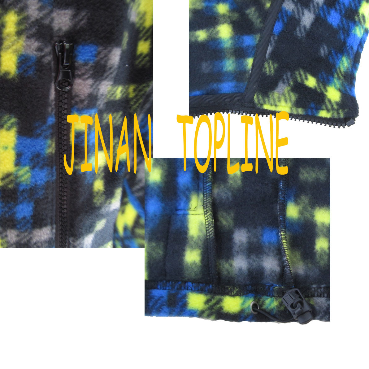 Men Long Sleeve Printed Micro Fleece Sports Leisure Jacket