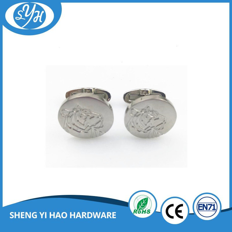 Best Quality Custom Enamel Gold Metal Cufflinks for Men