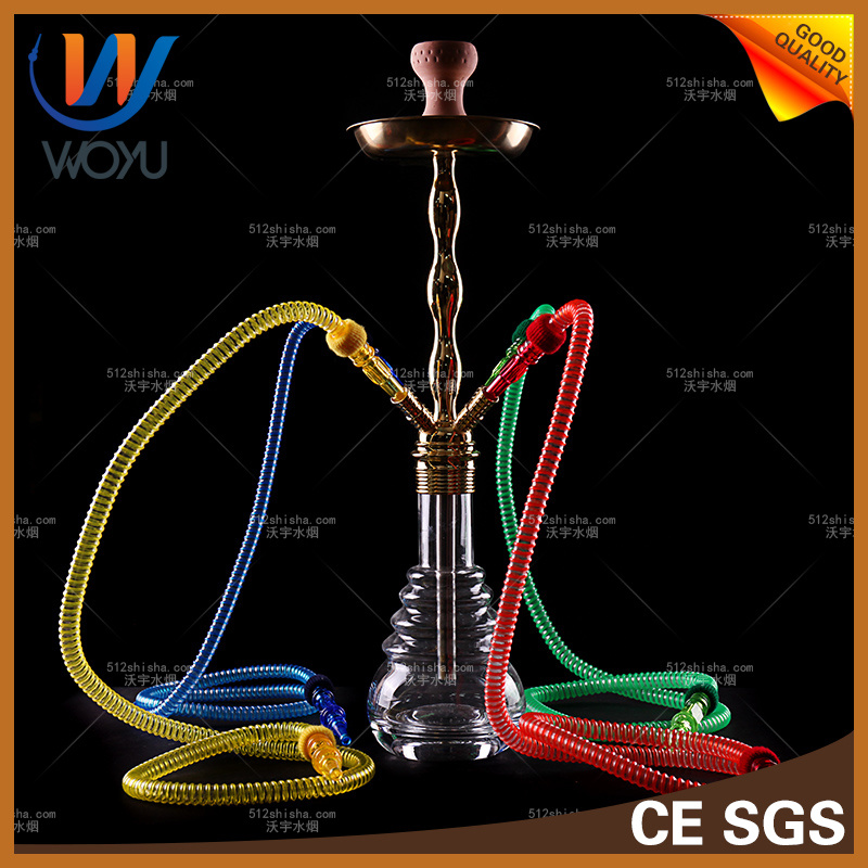 1 Set Colorful Waterpipes Glass Bottle Zinc Alloy Material Shisha