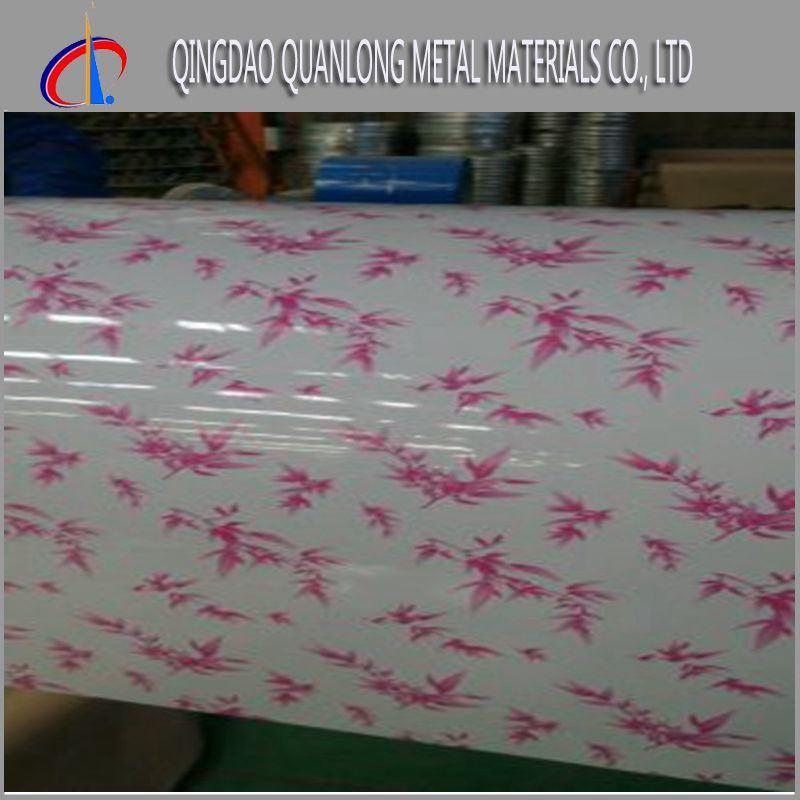 Flower Brick Wood Pattern Color Printing PPGI Steel Coil