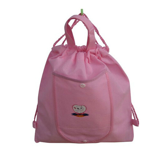 Pink Color Non Woven Fabric Bag for Cosmetics