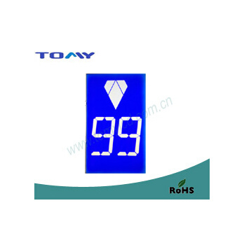 Elevator Stn LCD Display Segment Blue LED Backlight