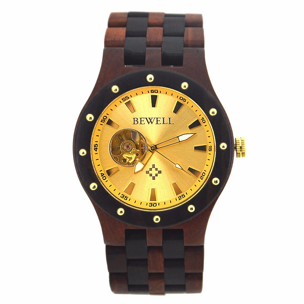 wood personalized custom men wooden anniversary media for gift customized mens watches real engraved watch
