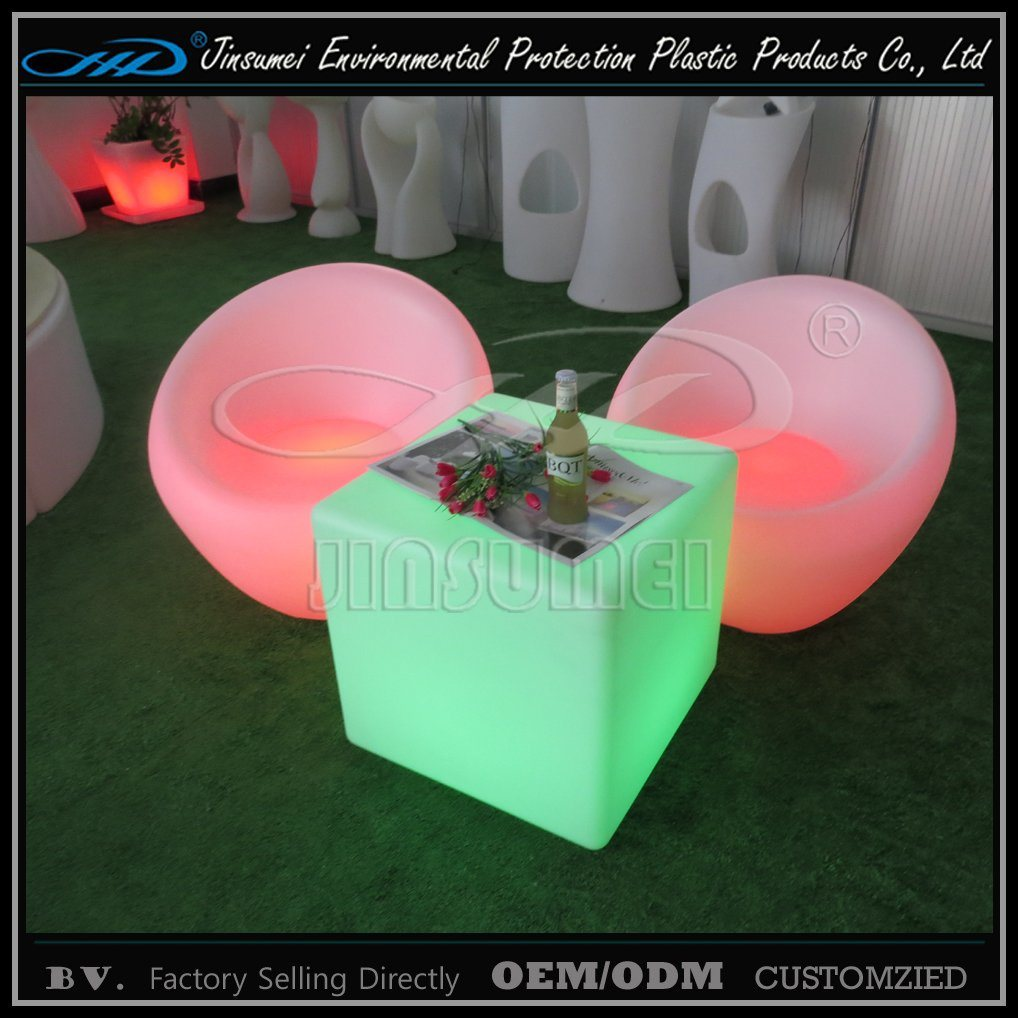 Hot Sell Rechargeable LED Furniture with Rotational Molding for Bar