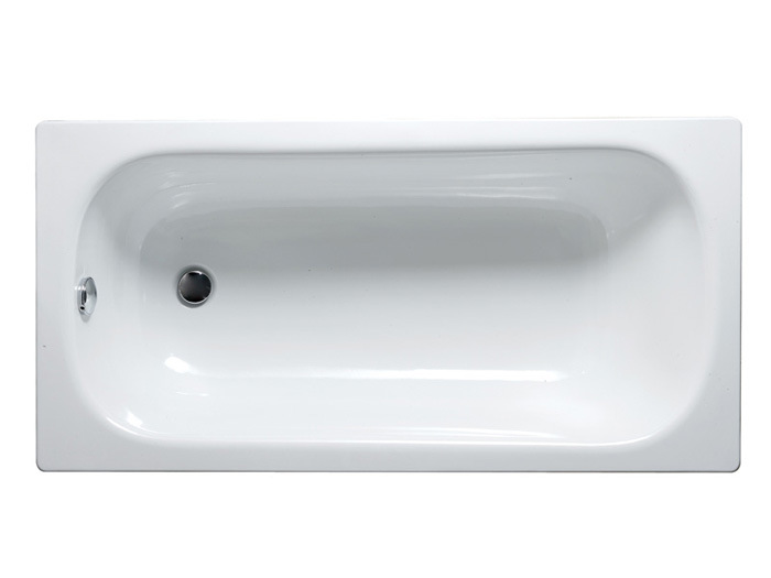 Steel Enameled Bathtub with Overflow Hole and Anti-Slip 160X70X39cm