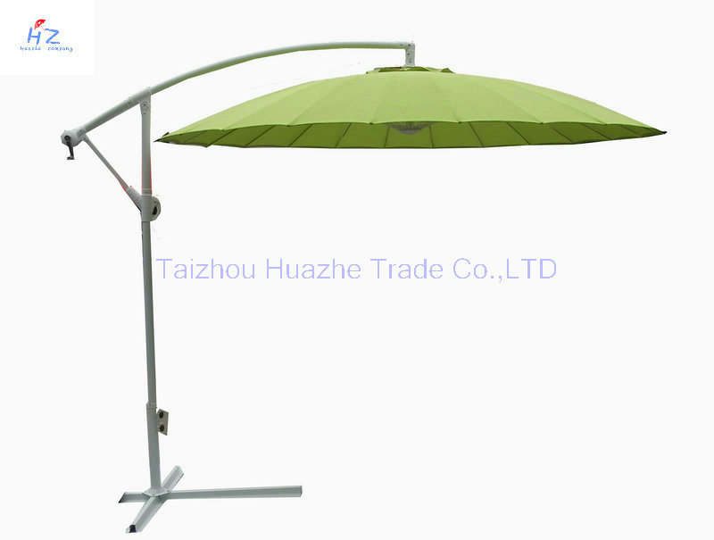 10ft Fiber Glass Parasol with Crank-Garden Parasol Banana Umbrella Outdoor Umbrella Garden Umbrella