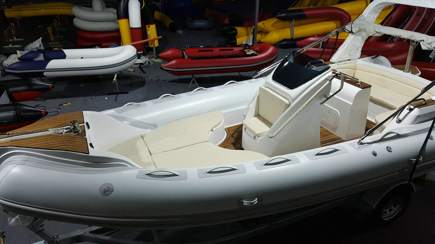 22.3feet 6.8m Inflatable Rib Boat, Rescure Boat, Fishing Boat, Rigid Hull Boat, PVC and Hypalon