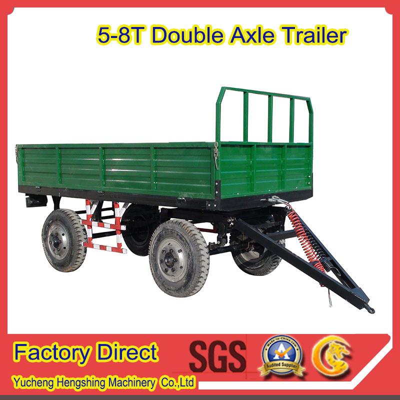 Double Axles Rear Dump Farm Trailer