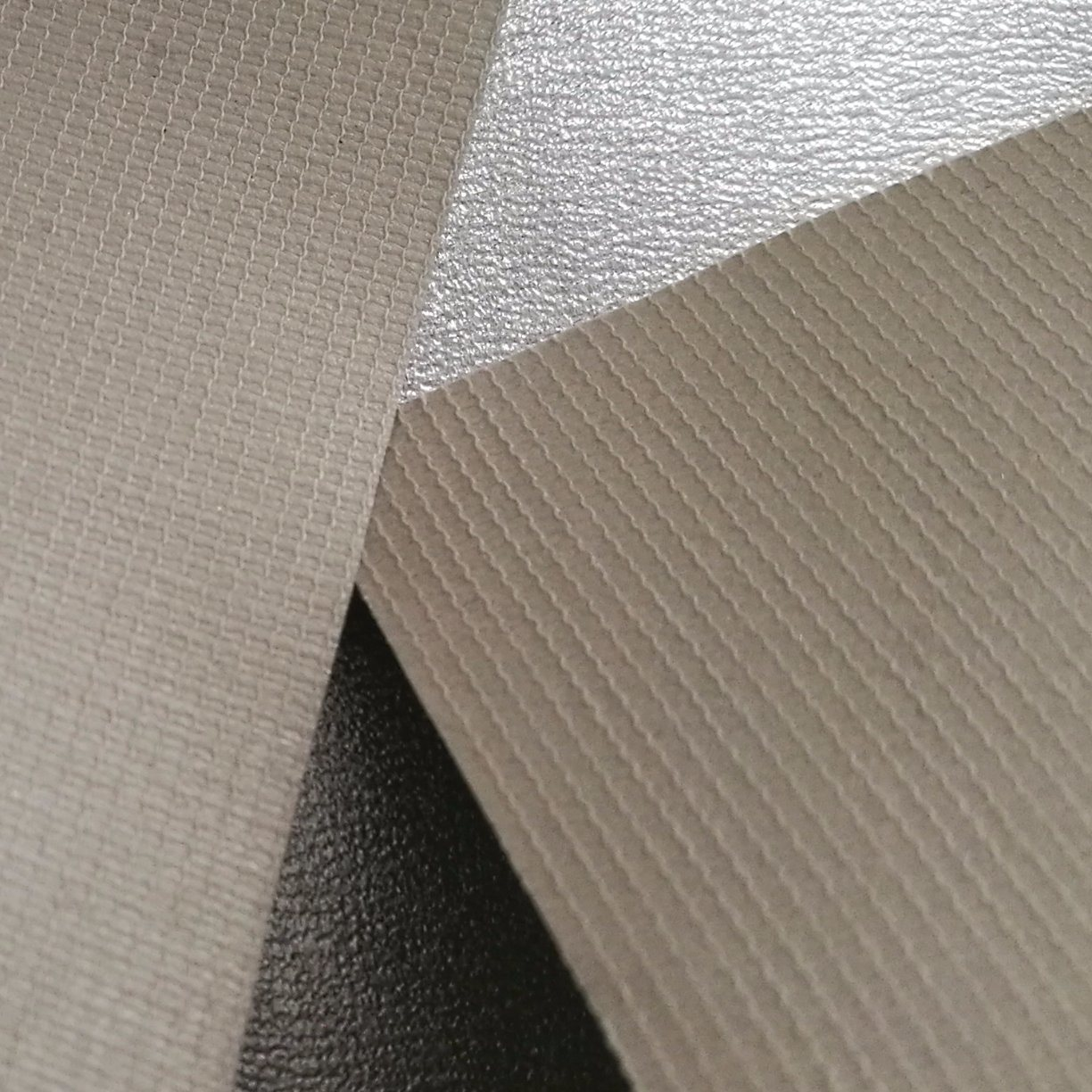 Silver Metallic Luster, Soft Leather, PVC Leather
