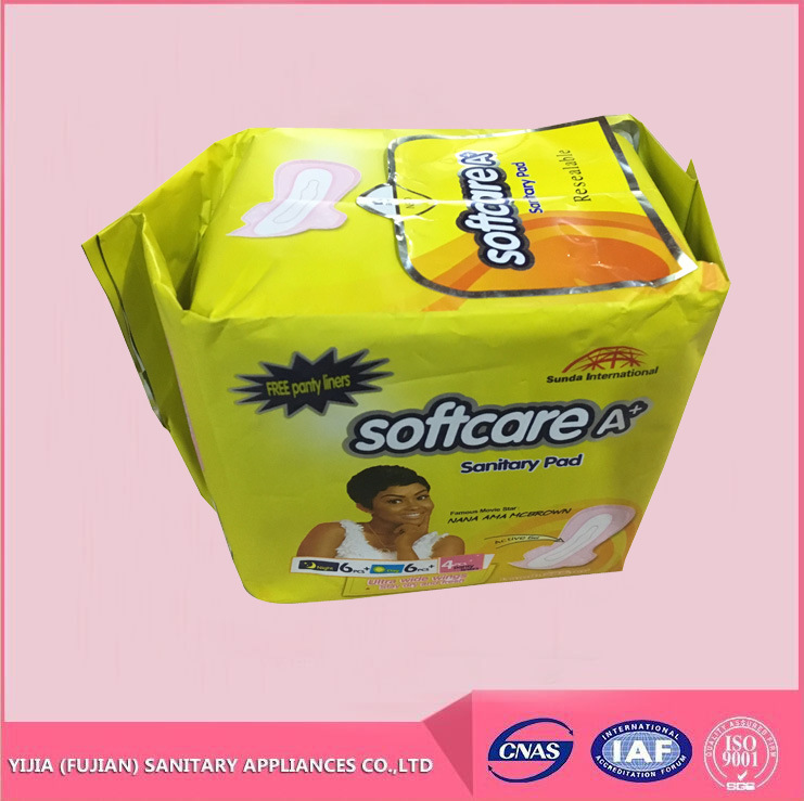 Cheap Good Qualtiy Softcare Tranquil Brand Sanitary Napkin Pad for Africa Market