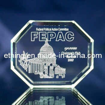 3D Laser Glass Crystal Promotional Gifts for Paperweight