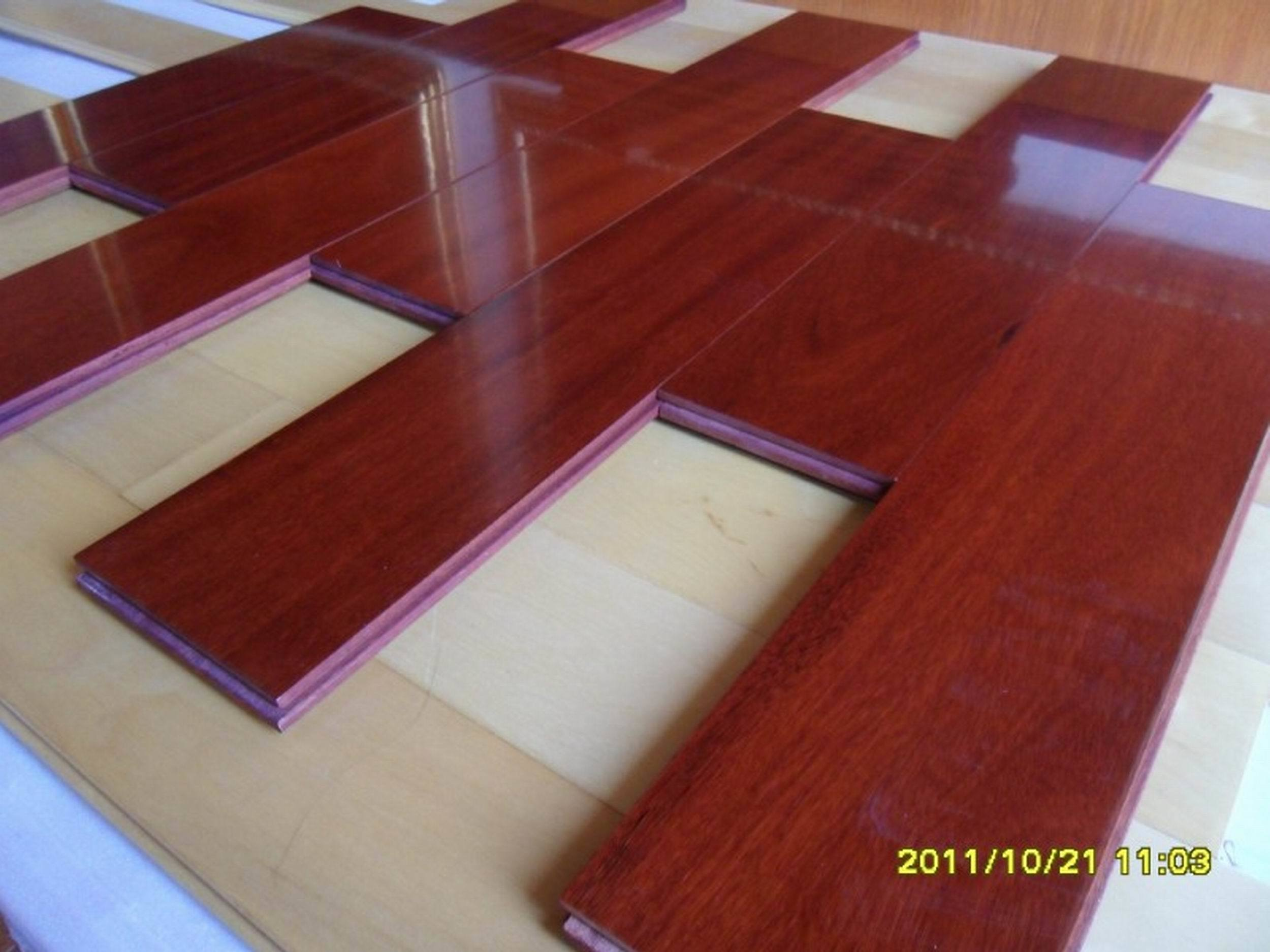 China Foshan Stock Antiscratch Waterproof Cumaru Parquet