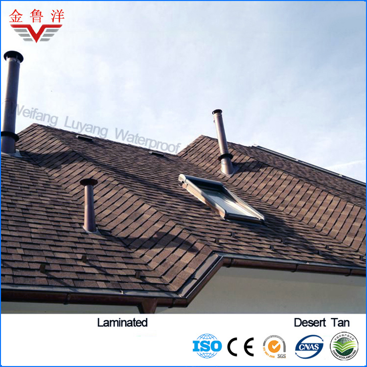 Laminated Type Colorful Asphalt Shingle From Manufacturer, Colorful Asphalt Roofing Tile