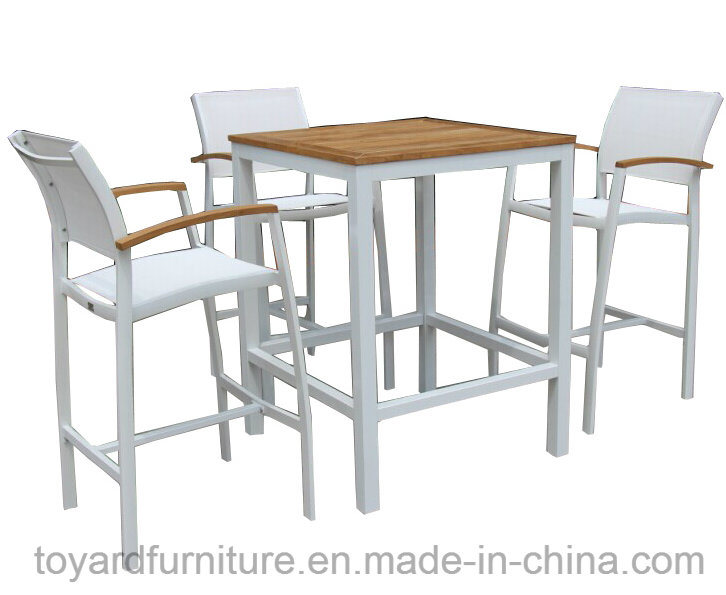 Best Choices High Quality Outdoor Patio Aluminum Powder Coated Sling Mesh Fabric Furniture White Finish