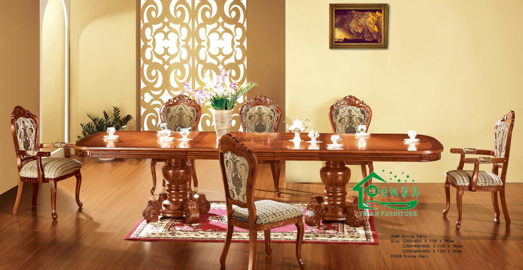 China Dining Room Furniture With 96 Inch Length Dining
