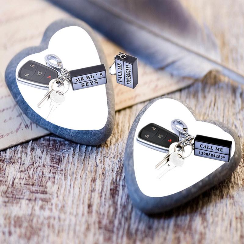 10 Pieces LED Light Key Ring Mini Lightbox