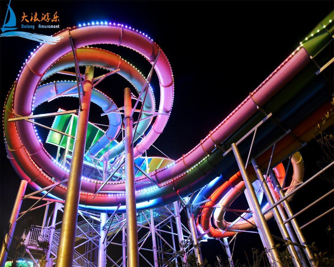 Slip Carpet Octopus Water Slide, Big Water Amusement Park Equipment (DL051)