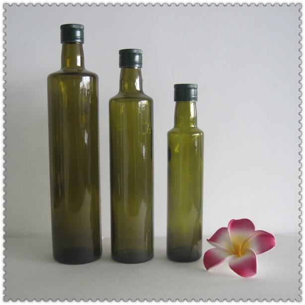 Screw Top Glass Olive Oil Bottles