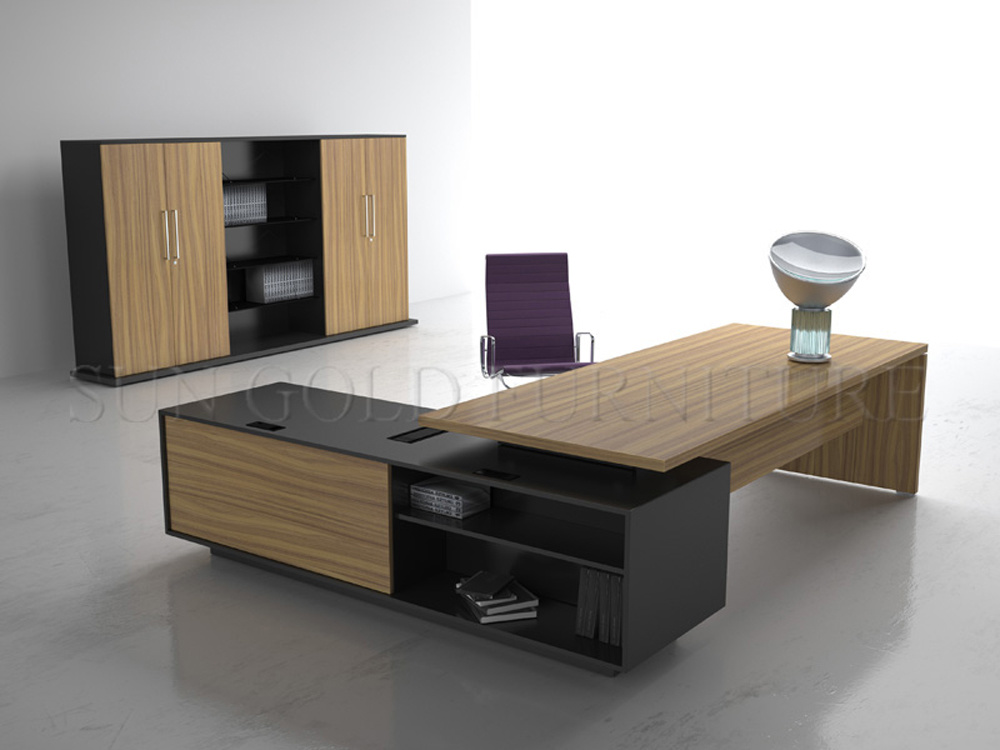 2014 From China Commercial Designed Wood Executive Desk (SZ-OD191)