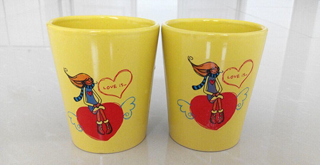 Ceramic Mug Without Handle Valentine′s Gift