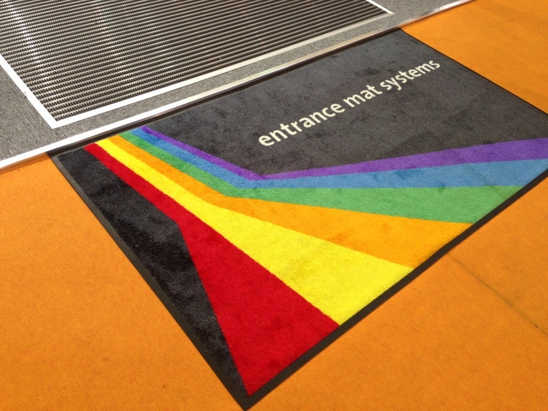 High Definition Printed Nylon Logo Mat, with Strong Rubber Back, Oeko - Tex Standard 100 Certificated