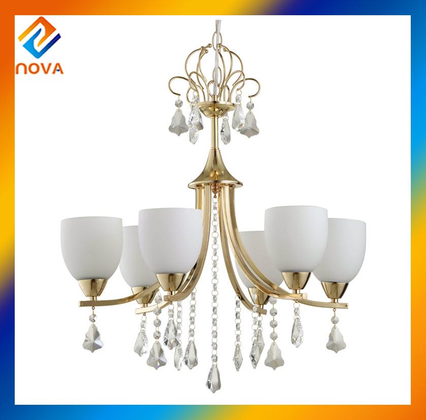 Brass Classic Oriental Glass Chandelier Lamp