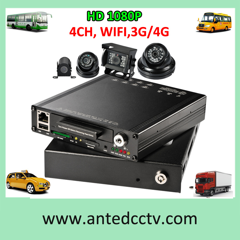 4G 3G Mobile DVR and Camera for Vehicles Trucks Cars Bus CCTV Live Monitoring