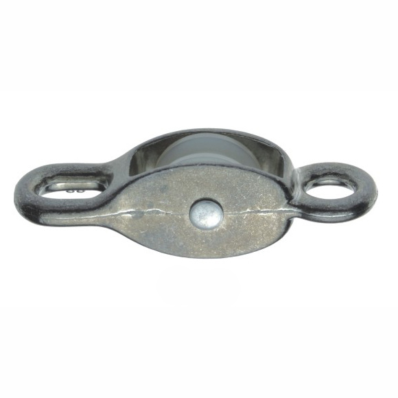 Zinc Alloy Nickel or Chrome Plated Pulley with Single Nylon Wheel Model Dr-503z