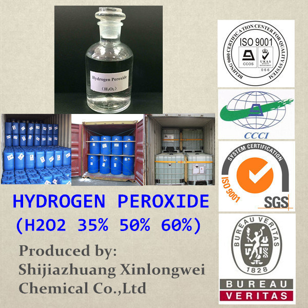 Top Quality 27.5%, 35%, 50% Hydrogen Peroxide (H2O2)