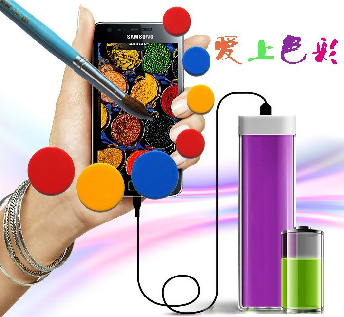 Portable Lipstick Power Bank Cell Phone Charging Cases
