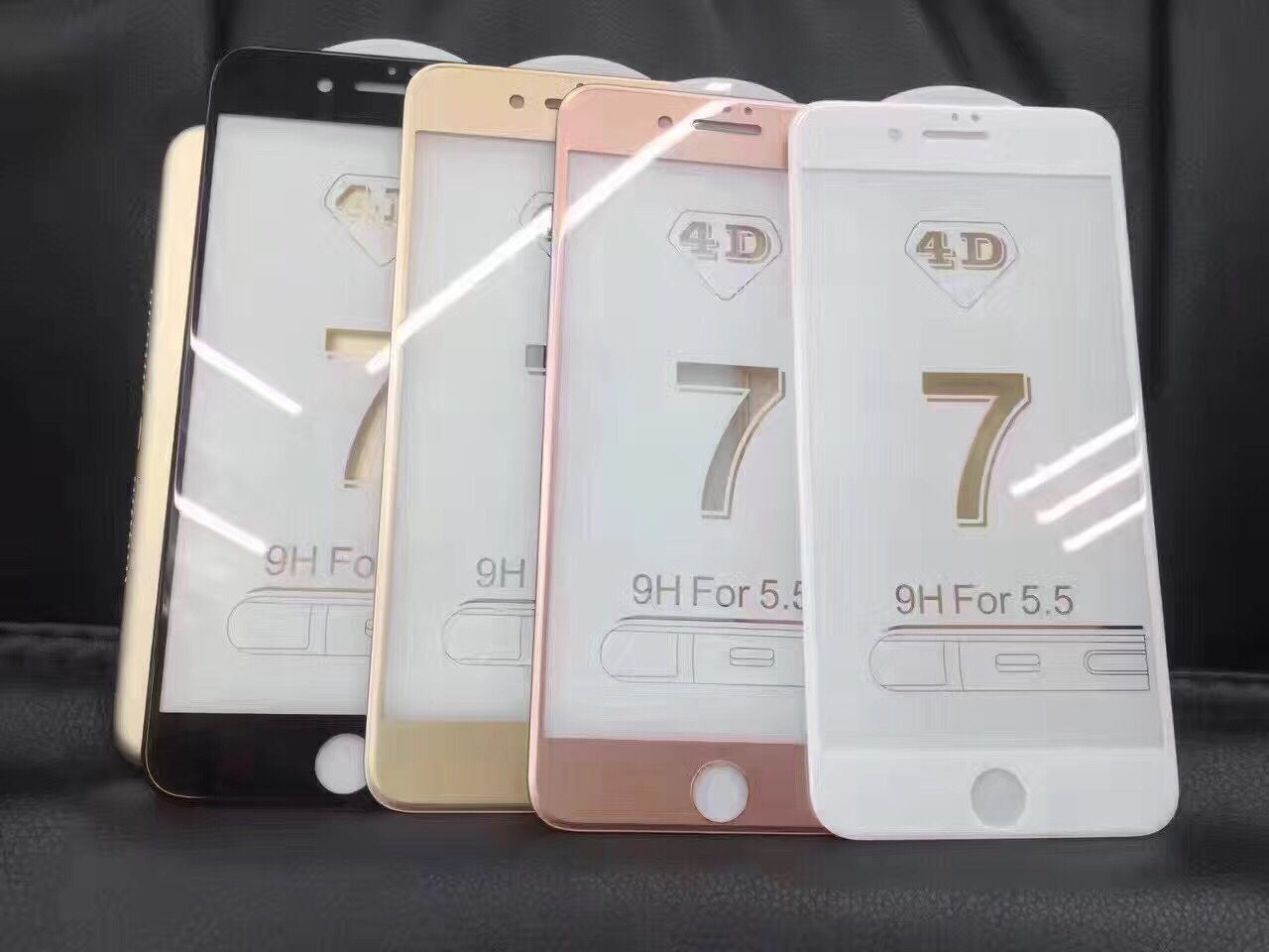 New 4D Full Cover Tempered Glass Screen for iPhone7/7plus