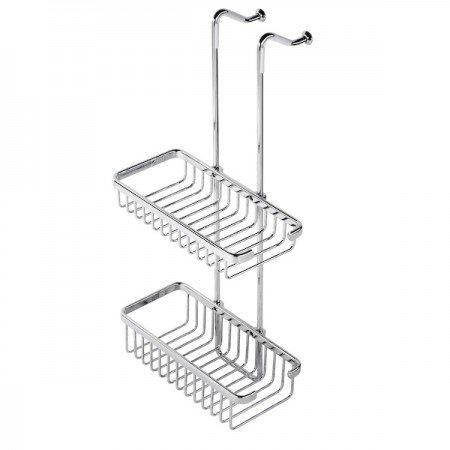Hanging Double Brass Bathroom Basket