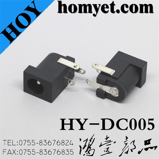 2.0mm Right Angle DIP Power Connector/DC Power Jack for Laptop (DC-005)