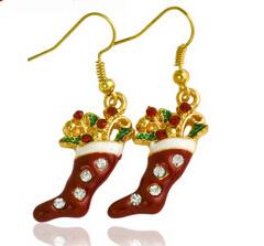 Christmas Jewelry/Christmas Earring/Christmas Sock (XER13373)