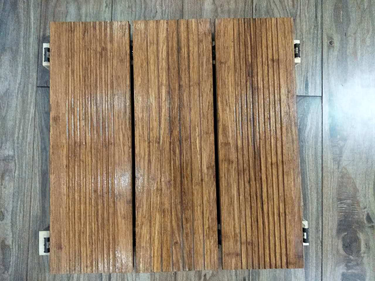 Durable Strand Woven Heavy Bamboo Outdoor Garden Flooring