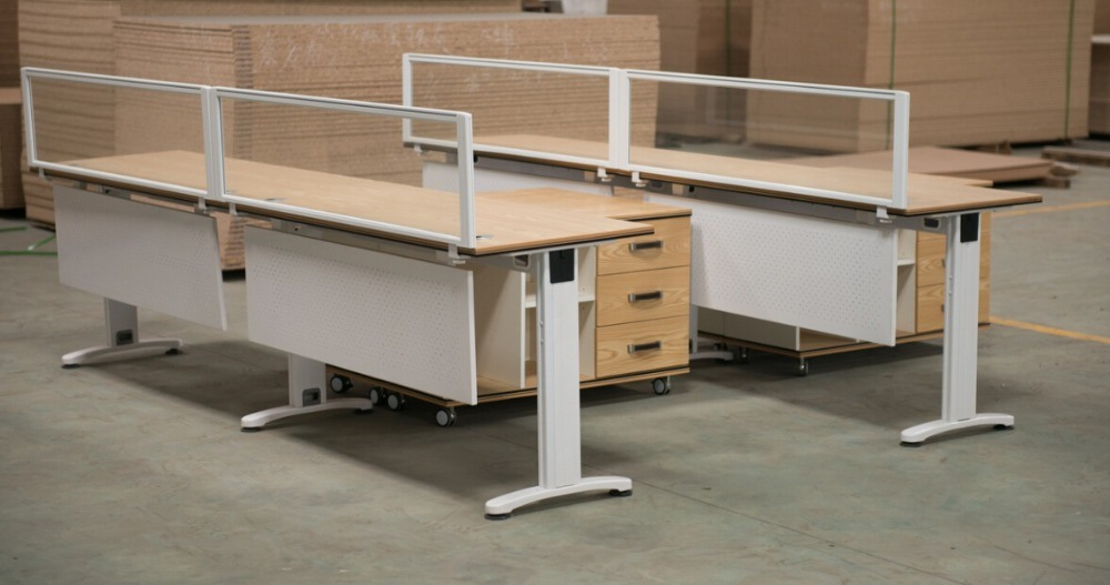 Modern Office Open Partition Workstation for Four Person