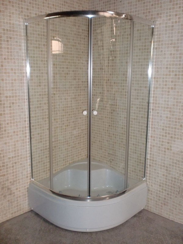 30cm Tray Round Complete Simple Shower Room Enclosure