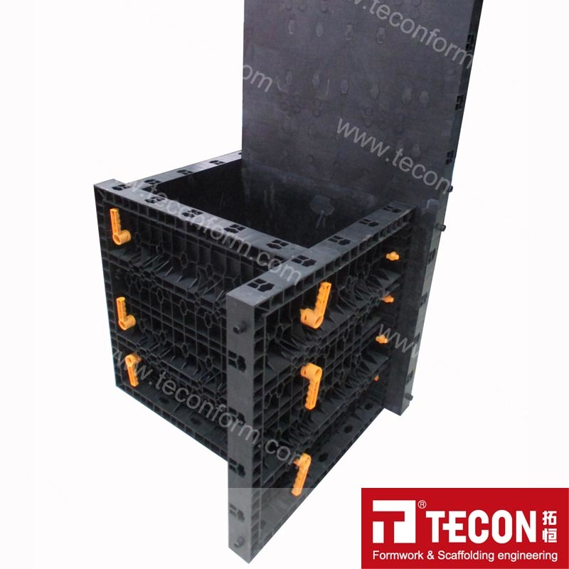 Reusable Plastic Adjustable Column Formwork
