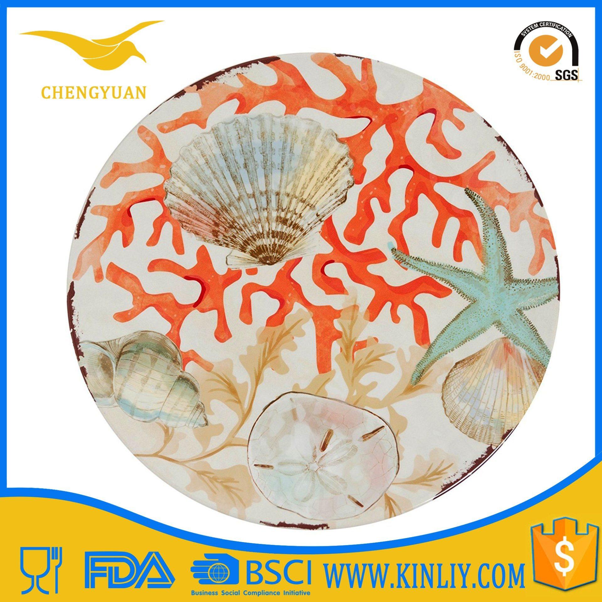 OEM up to Standard Printing Round Deep Dish Dinner Plates