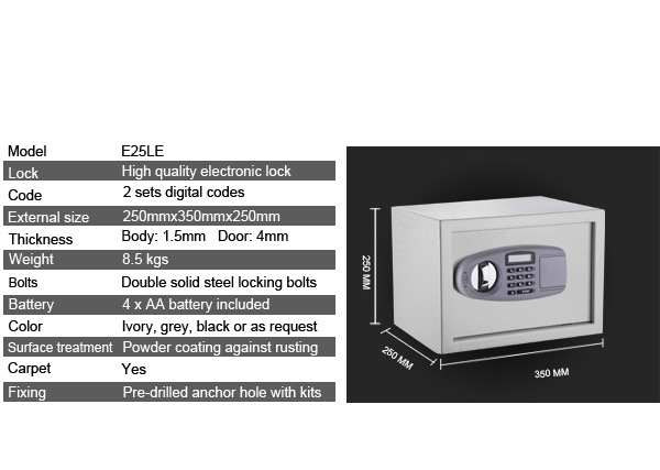 Electronic Safe for Home and Office