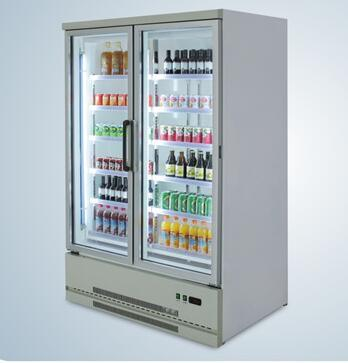 Supermarket Glass Doors Fresh Fruit Display Cooler
