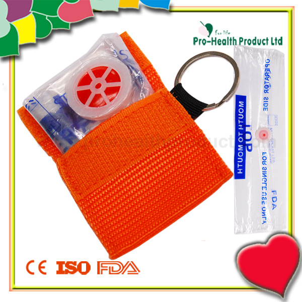 CPR Mask In A Key - Ring Woven Bag