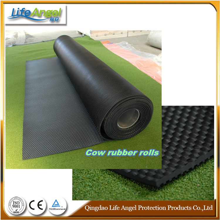 Recycled Cloth Inserted Grooved Cow Stable Rubber Mats