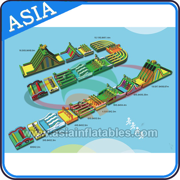 Outdoor Playground Giant Inflatable Obstacle Course Equipment