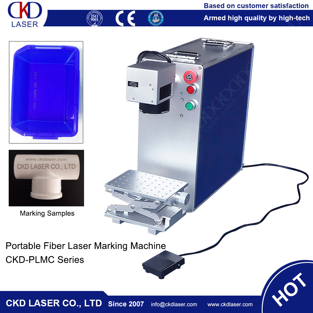 20W Small Mini Portable Economic Fiber Laser Marking Machine for Metal