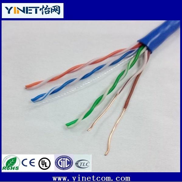 Factory Sales Cat5e/CAT6 UTP Copper Ethernet Data LAN Cable 1000 FT
