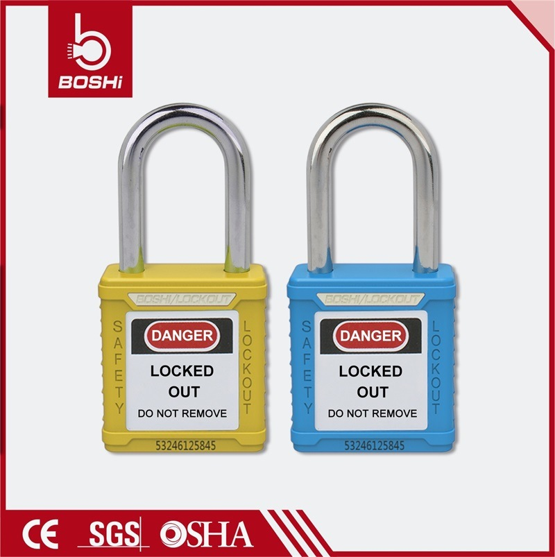 38mm Steel Shackle Standard Key System Safety Padlock (BD-G01)