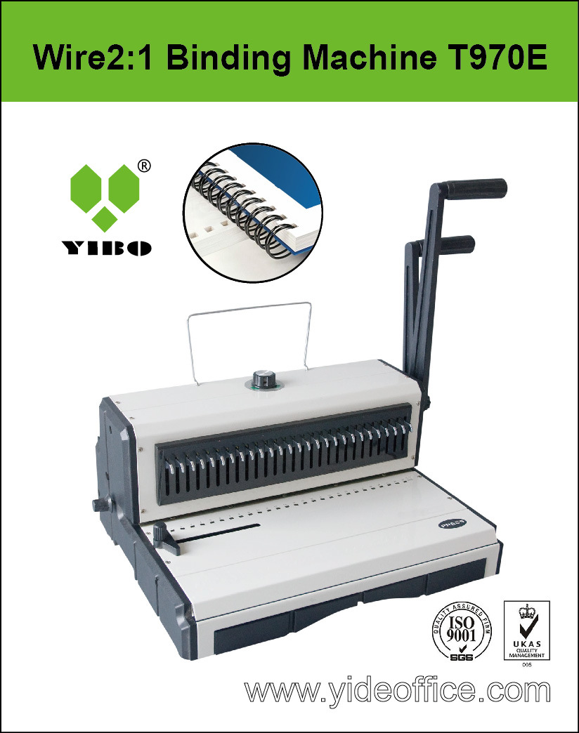 F4 Size Wire 2: 1 Punching and Binding Machine (T970E)
