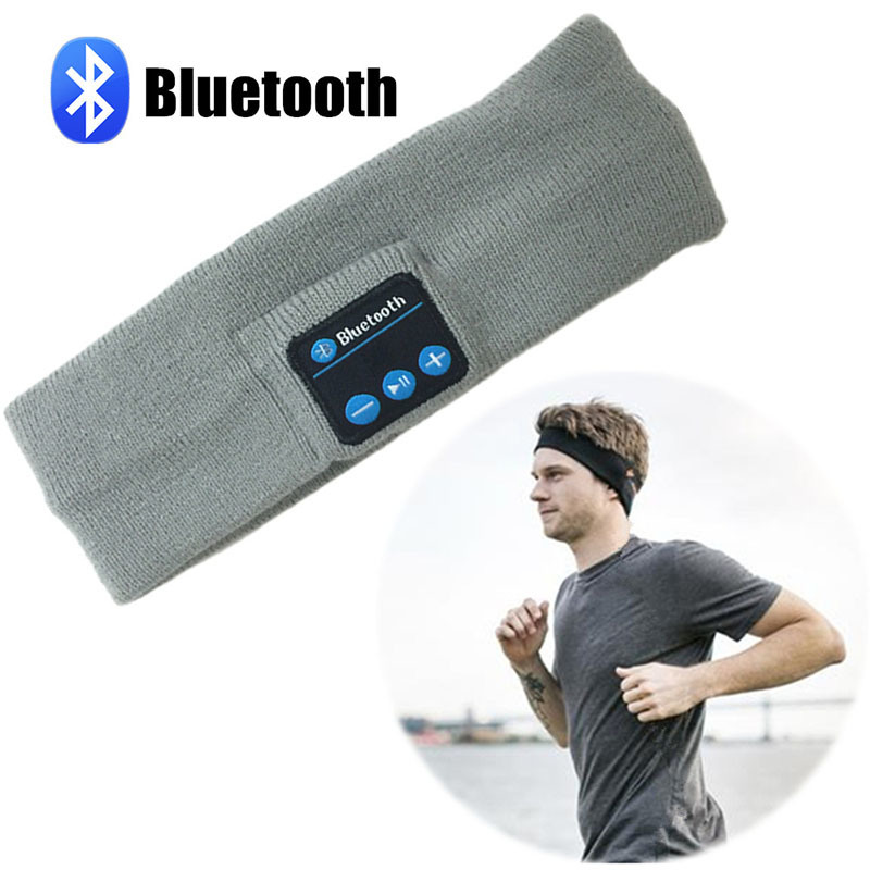 Rechargeable Washable Wireless Bluetooth Music Headband with Heaphone Speaker